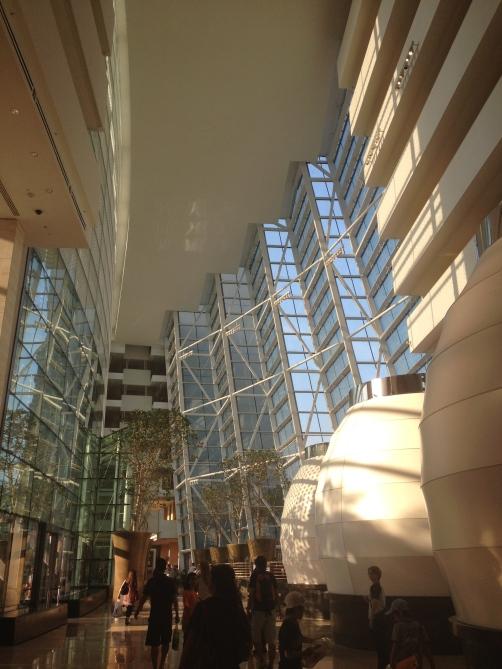 The lobby of the Marina Bay Sands Hotel