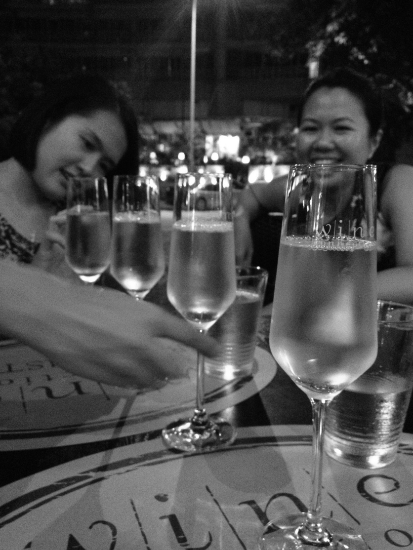 Last night in SG--Moscato @ Wine Connection, Robertson Quay