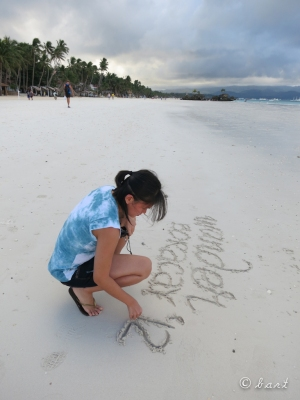 Leaving my mark on the sand (albeit temporarily)