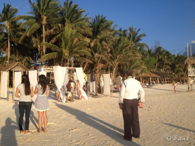 The small wedding held in the resort beside ours