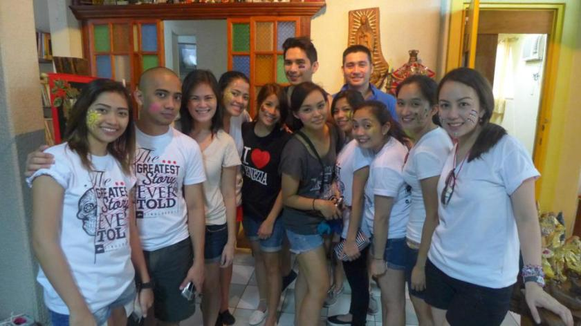 Before taking on the Sinulog (at the pit stop!)