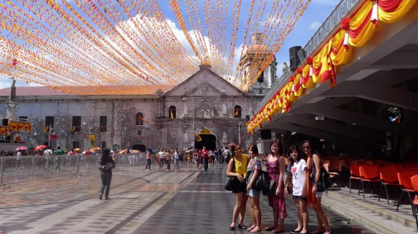 Where the Sinulog parade starts and ends