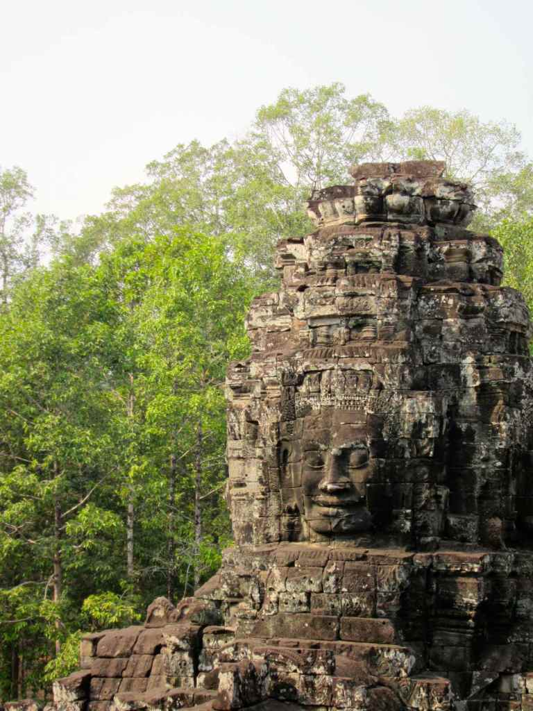 Bayon has more than 200 of these serene faces hewn out of stone