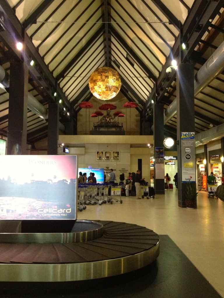 The arrivals hall of the Siem Reap International Airport