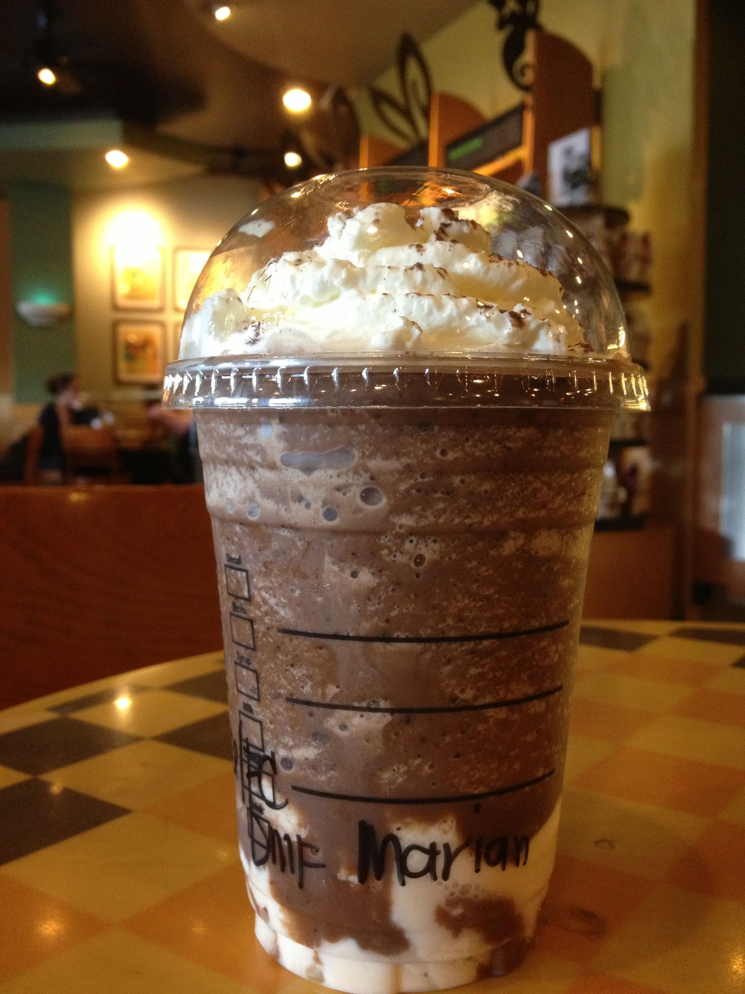 Starbucks Dark Mocha White Chocolate Pudding Frappuccino