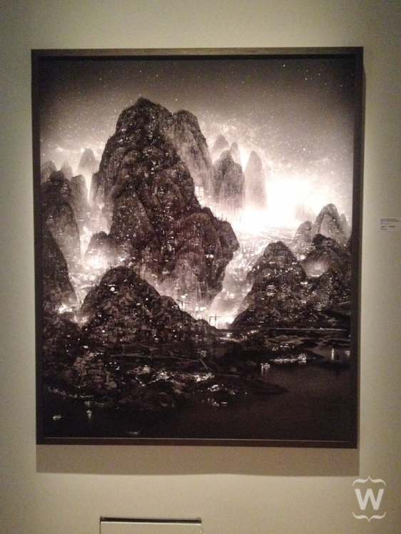 Wintry Forest in the Night, Yang Yong Liang [Flux Realities exhibit at ArtScience Museum]