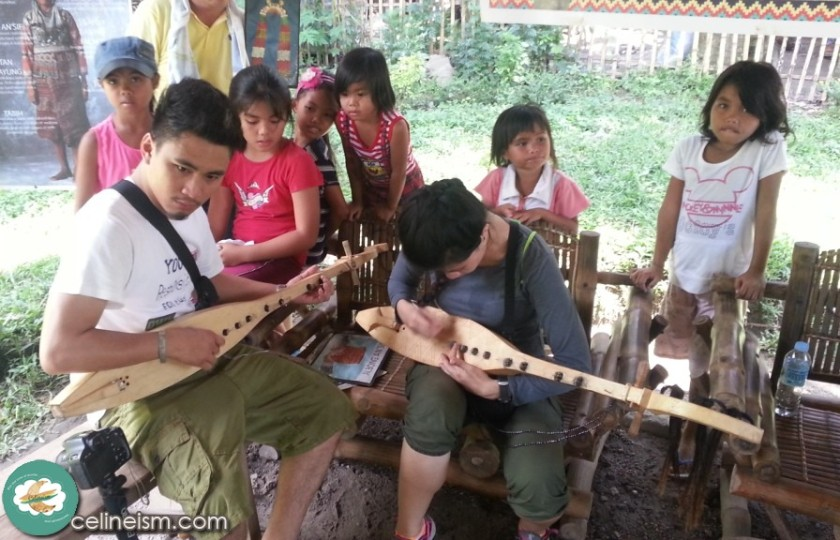 Learning how to play the faglung with the Blaan kids