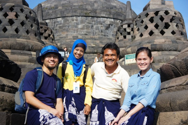 The temple crew at Borobudur