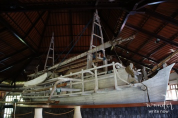 The enormous ship housed in the Museum Kapal Samudraraksa