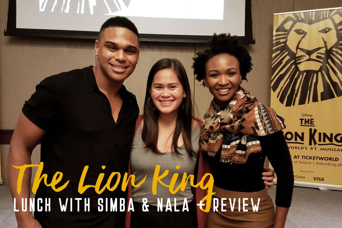 Q&A with Calvyn Grandling and Noxolo Dlamini + Musical Review: THE LION KING in Manila